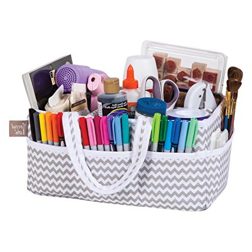 Trend Dove Chevron Caddy White/Gray