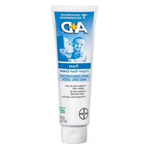 A+D Diaper Rash Cream, Dimethicone Zinc Pack