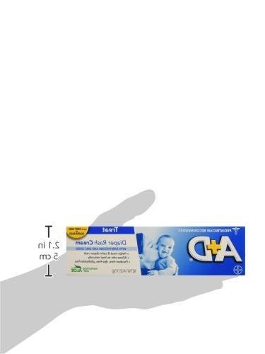 A+D Zinc Rash Treatment Cream, 1%, Zinc Oxide Easy Spreading Baby Care,