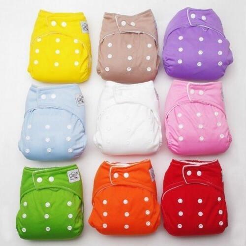 Adjustable Reusable Lot Kids Boy Washable Cloth Diaper