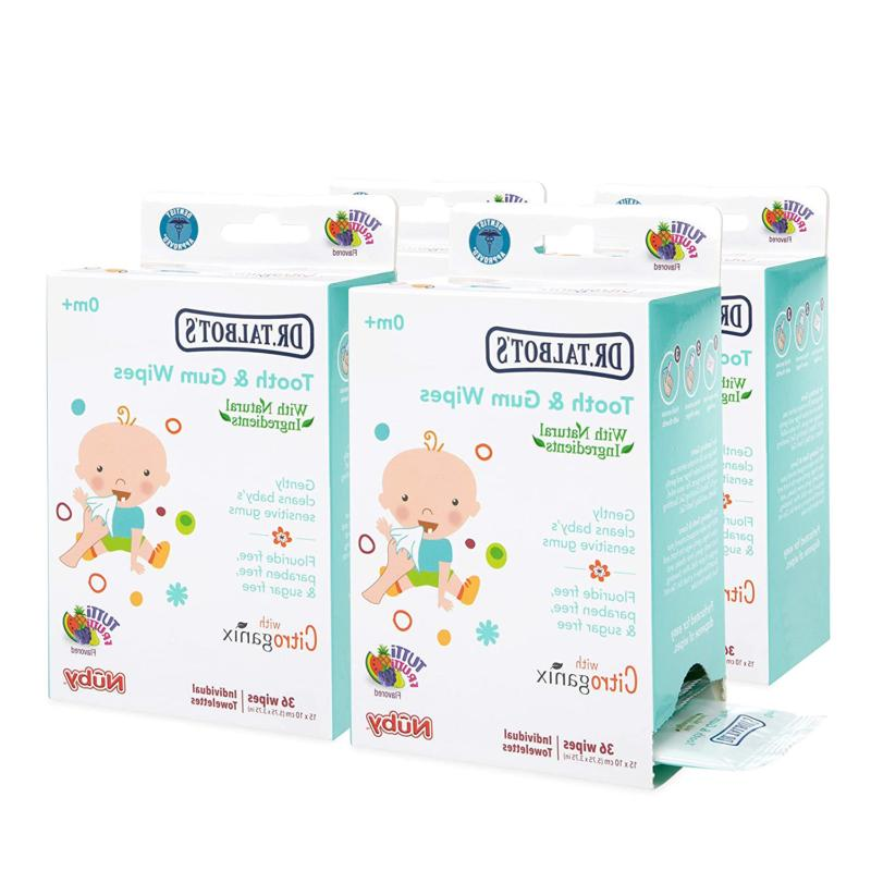 Nuby All Natural Baby Tooth And Gum Wipes With Citroganix,36