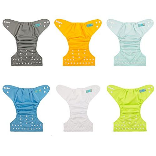 ALVABABY Cloth Diapers Reusable Girls and Boys 6 Pack with Inserts 6BM98