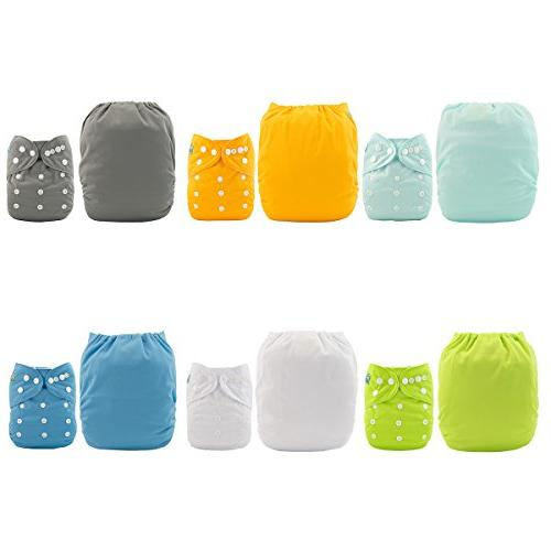 ALVABABY Baby Cloth One Reusable for and Boys 6 Pack with