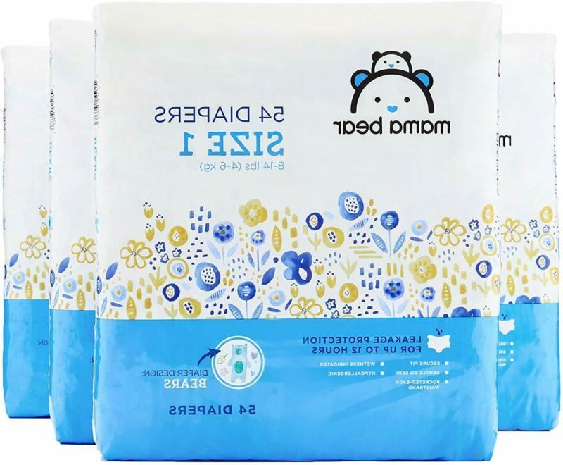 Amazon Brand - Mama Bear Diapers Size 1, 216 Count, Bears Pr