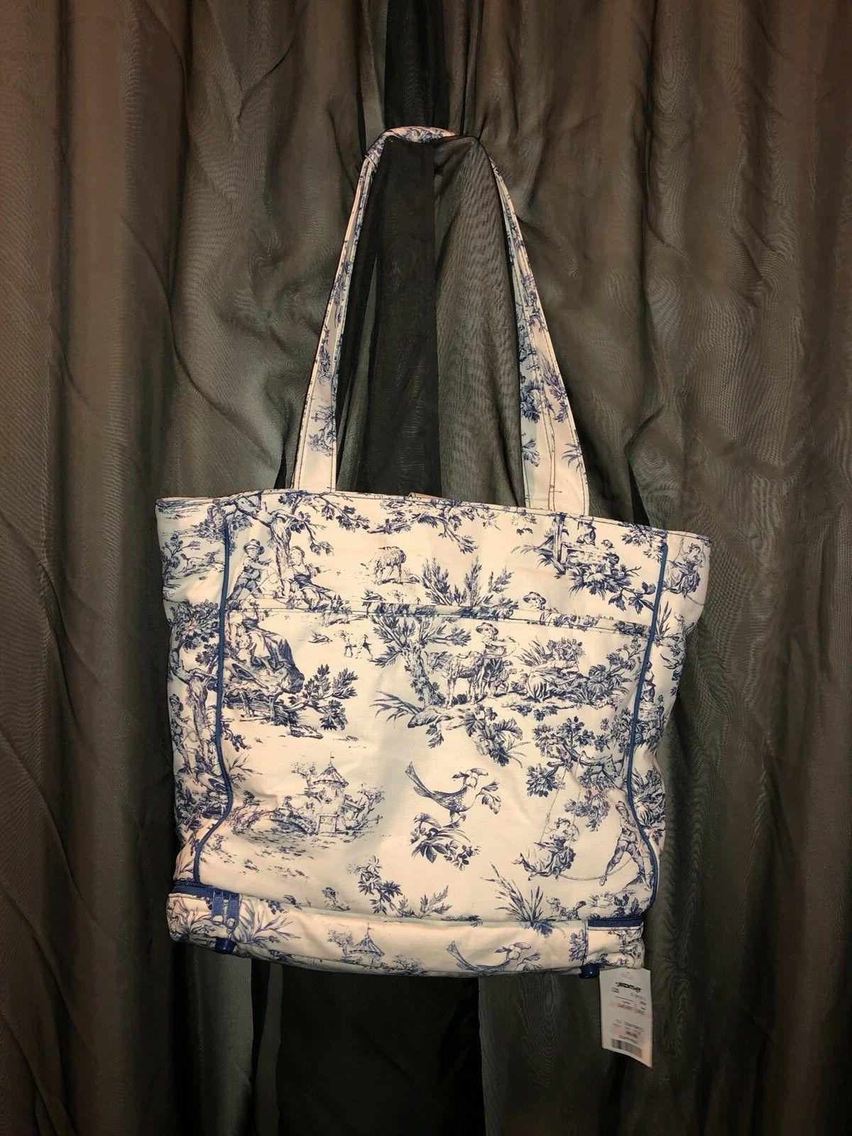 baby and co diaper bag blue toile