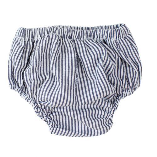 juDanzy Baby Boys Diaper Cover 0-6 Months, White & Blue Stri
