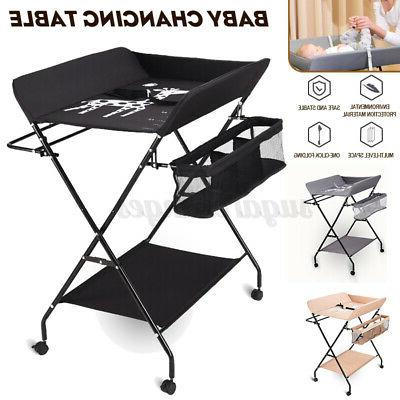 baby changing table folding diaper station nursery