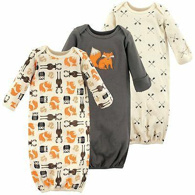 baby cotton gowns forest 0 6 months