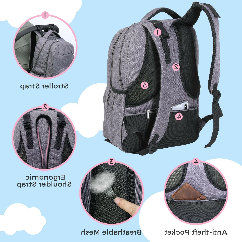 Lifewit Diaper Mummy Nappy Bag Nursing Bag