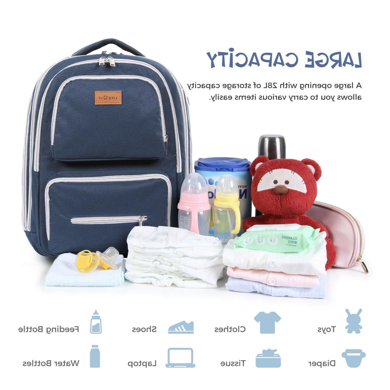Lifewit Diaper Backpack Travel Maternity Bag Organizer
