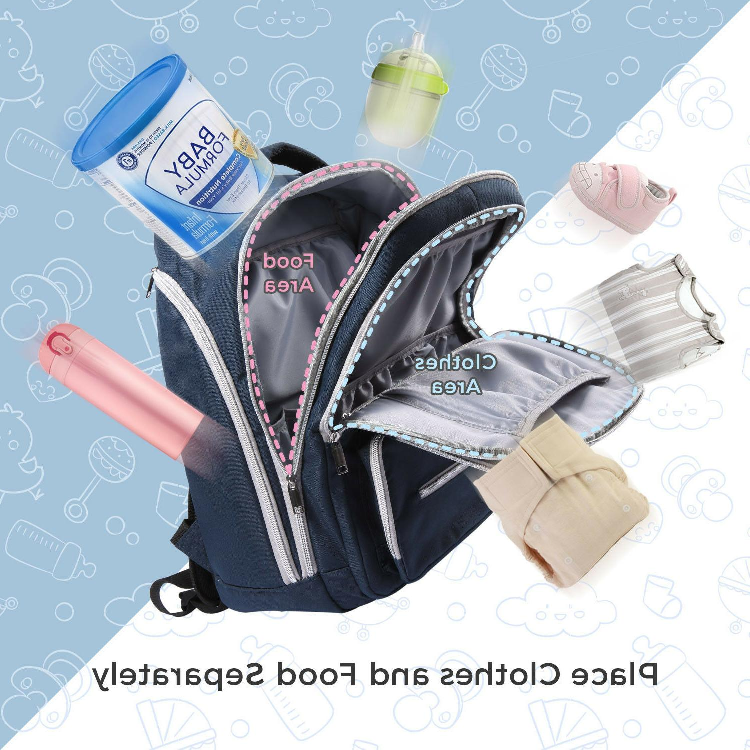 Lifewit Baby Diaper Backpack Maternity Organizer Blue
