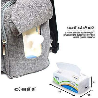 SKYLA - Diaper Backpack Scratch Bag Insulated Pockets Size