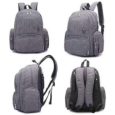 Diaper Backpack Scratch Proof Bag Insulated Pockets Size