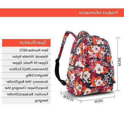 Insular Bag Backpack Large Capacity Nappy Bag Nursing B4F5