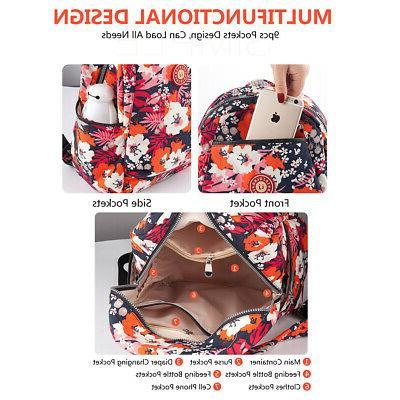 Insular Backpack Large Capacity Mummy Nappy Bag B4F5