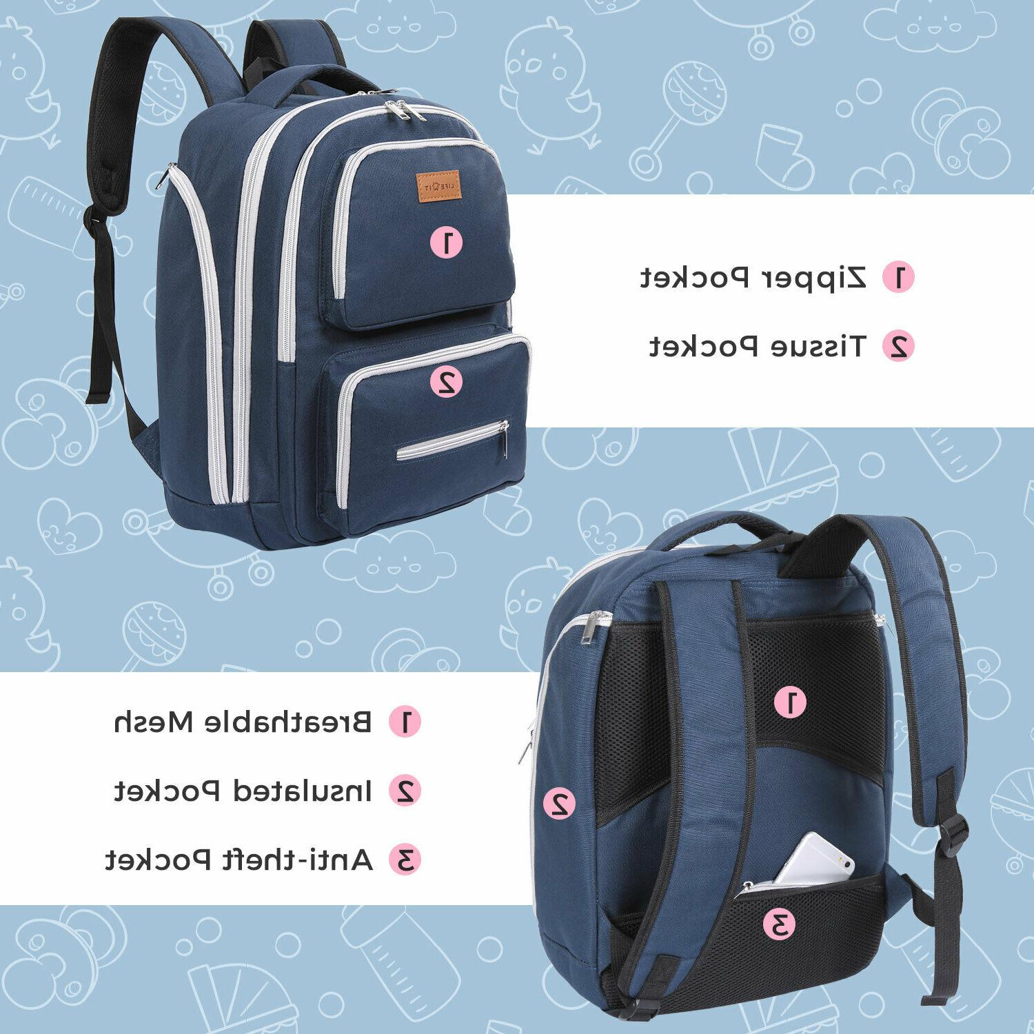 Lifewit Baby Diaper Backpack Mummy Travel Nappy Maternity Bag