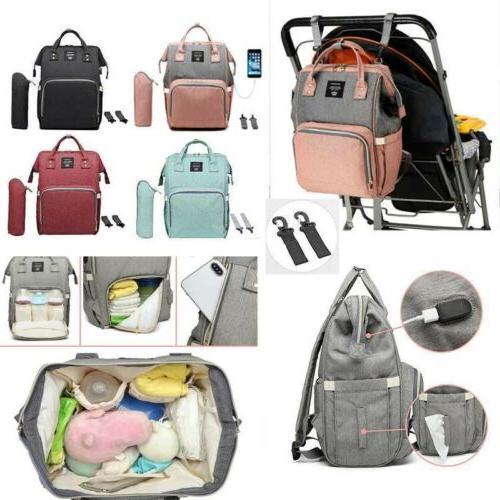 baby diaper bag backpack usb charging large