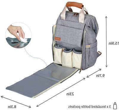 Baby Bag Backpack, Waterproof, Large Capacity, Pad
