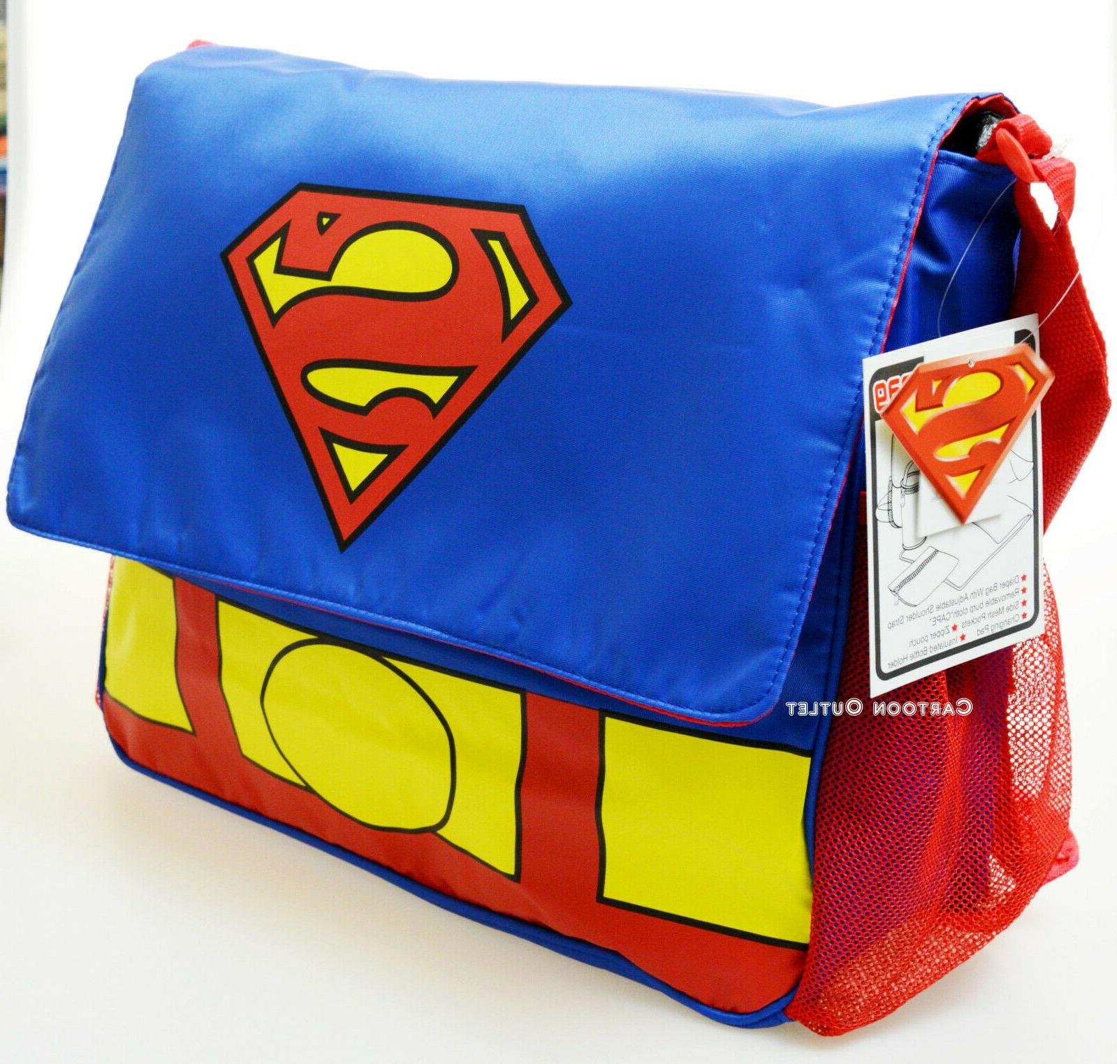 Superman Baby Diaper Bag Boys Girls Bottle Tote Blue Messeng