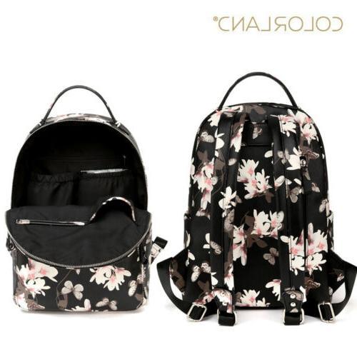 Baby Diaper Nappy Backpack PU Large Capacity Waterproof Bag US