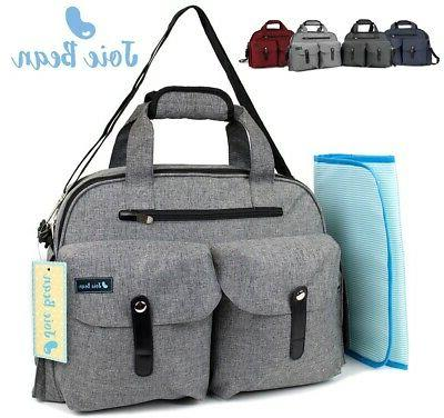 baby diaper bag tote large travel nappy