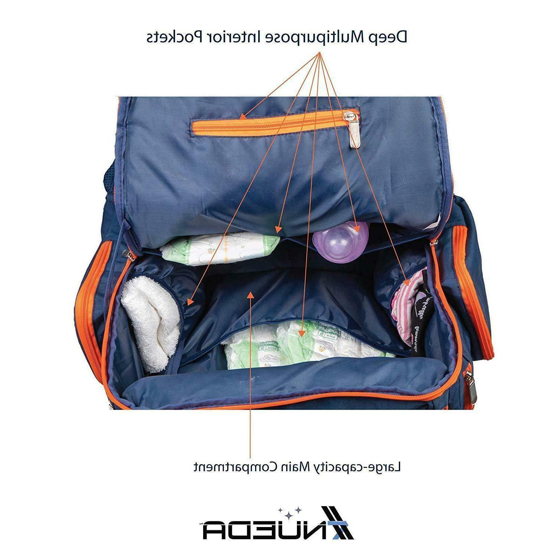 NUEDA Baby Travel Durable Large Waterproof Navy