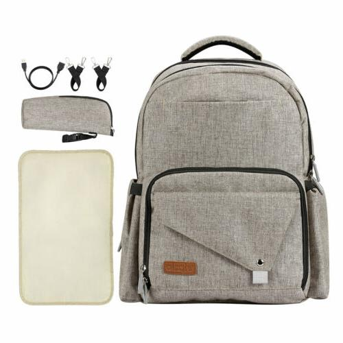 Baby Diaper Bag Backpack Mom Bags Waterproof Large Capacity Pack