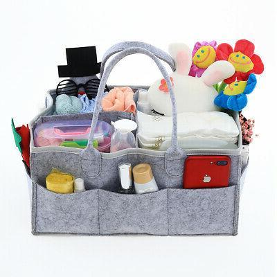 Baby Diaper Caddy - Pack Diaper Organizers Grey