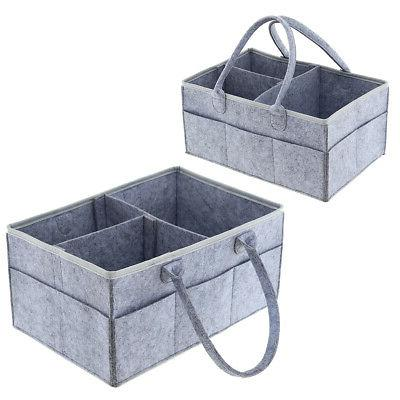 Baby Diaper Caddy Organizer - Pack Organizers for Grey