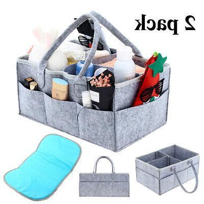 baby diaper caddy organizer 2 pack diaper