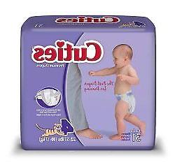 Baby Diaper Cuties Tab Closure Size 4 Disposable Heavy Absor