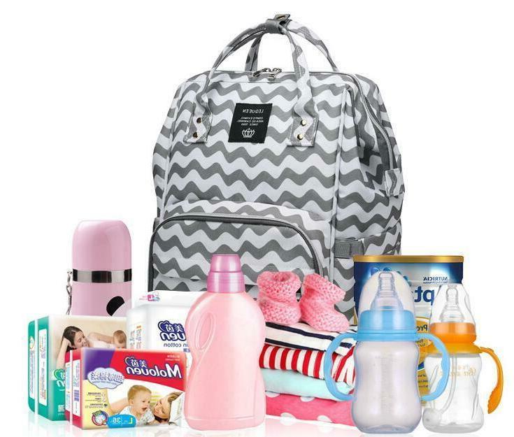 LEQUEEN Baby Diaper Fashion Bag Waterproof Mummy Maternity N