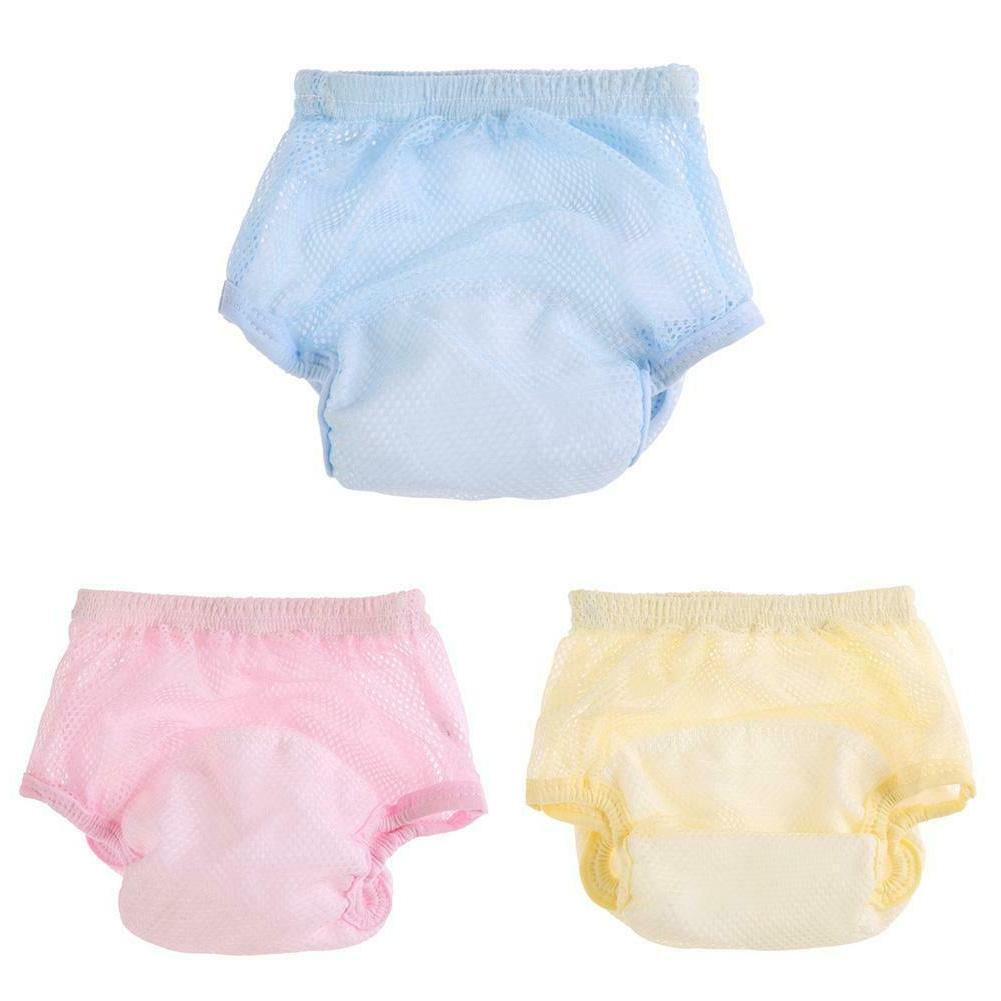 baby diaper kids elastic underwear mesh reusable