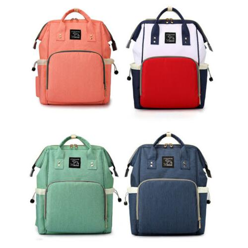Large Baby Diaper Nappy Mummy Backpack Multi-Function J1Y6B