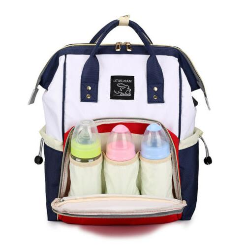 Large Baby Diaper Nappy Mummy Changing Backpack Multi-Function J1Y6B