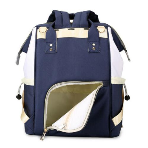 Baby Diaper Nappy Changing Bag USB Backpack
