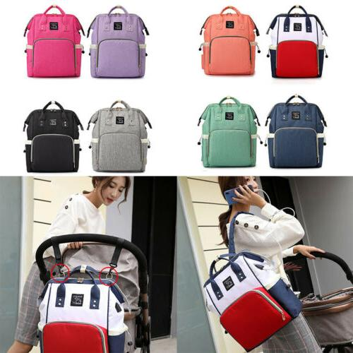 baby diaper nappy mummy changing bag usb