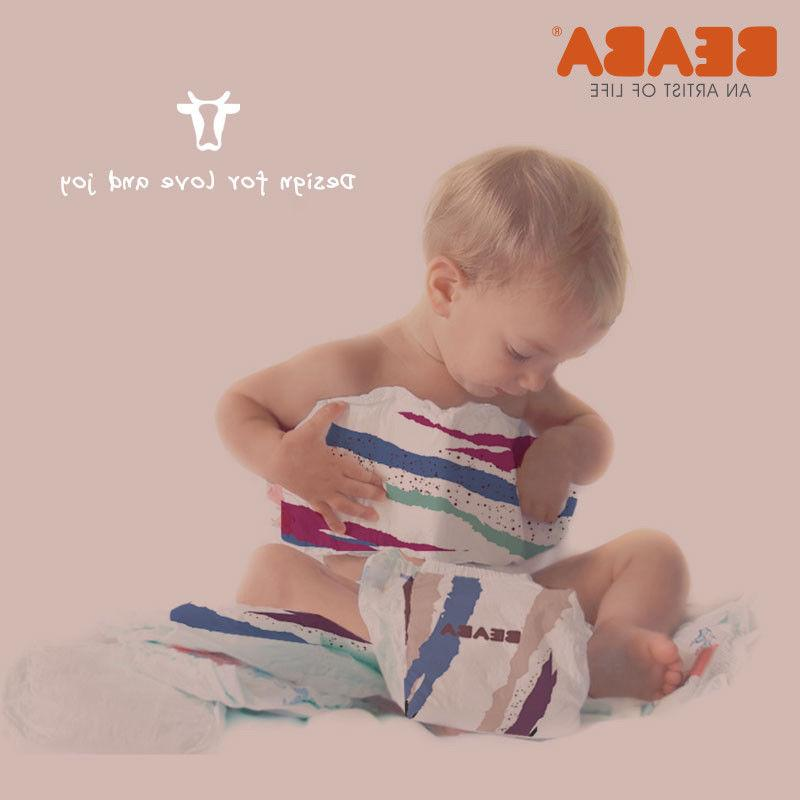 BEABA baby diaper 4 sizes for new born and 3-24 months 10cou