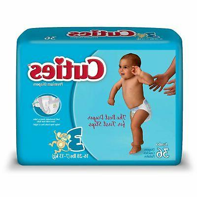 Cuties Baby Diaper Size 3 16 to 28 lbs. CR3001 144 /Case