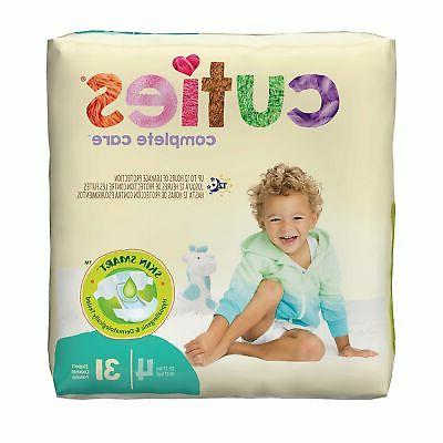 Cuties Baby Diaper Size 4 22 to 37 lbs. CR4001 124 /Case