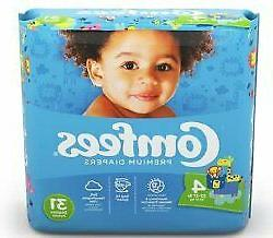Comfees Baby Diaper Size 4 41540 - Pack of 31