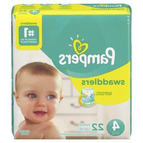 baby diaper swaddlers tab closure size 4