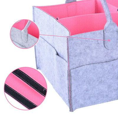 Baby Diaper Bag Caddy Nursery Storage Bin Infant Organizer