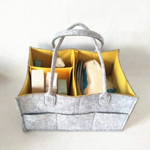 Baby Diaper Nursery Bag Bin Organizer Basket US