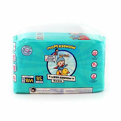 baby diaper with breathable pe backsheet size