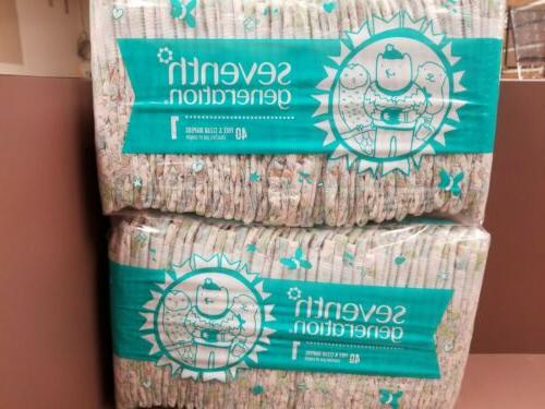 baby diapers size 1 2pks of 40