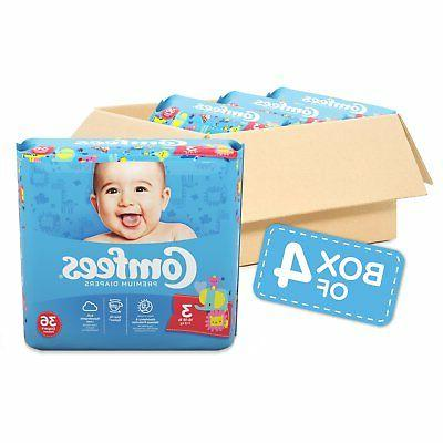 baby diapers size 3 case of 144