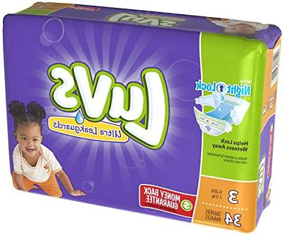baby diapers size 3 luvs ultra leakguards