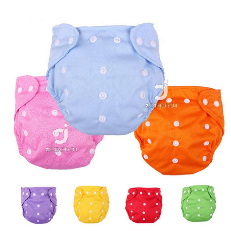 baby diapers washable reusable nappies grid cotton
