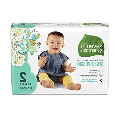 Seventh Free & Clear Sensitive Skin Animal Prints, Size count